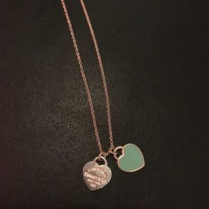 """16"""" double heart necklace from Tiffany's."""